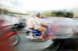 Art and Documentary Photography Blog - Loading Cambodian Motorcycle Riders